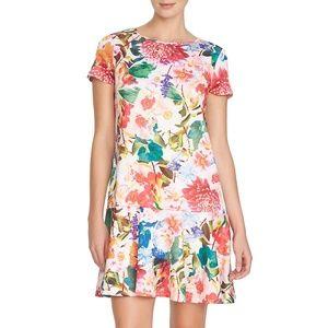 Cynthia Steffe Hayden Floral Drop Waist Dress